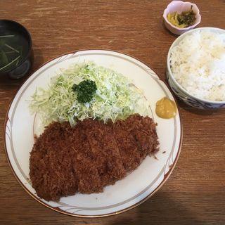 すたみなかつ定食(ジャンボサイズ)(とんかつ石亭 八幡茶屋 )