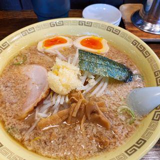 チャーシュー麺+煮玉子(江川亭 小金井本店 (えがわてい))