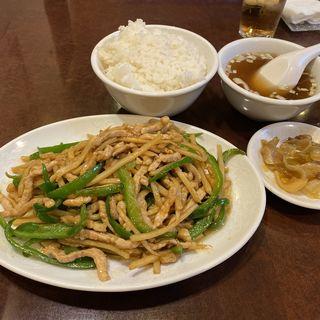 青椒肉絲定食(中國飯店)