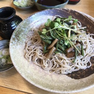 冷し山菜そば(八起 )