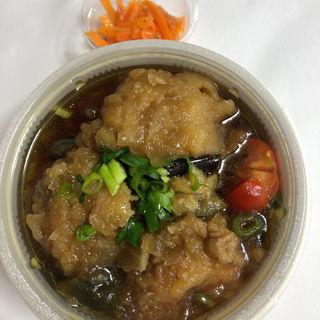 鶏竜田と揚げナスのたっぷりみぞれ煮