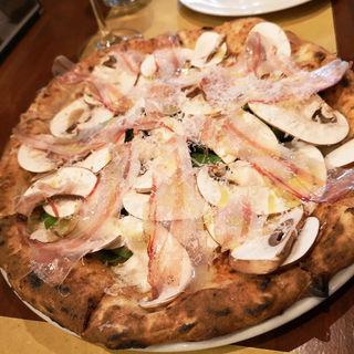 マッシュルームのピッツァ(Oppla da Gtalia)