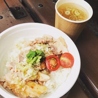 カオマンガイ丼(塩生姜らー麺専門店 MANNISH (マニッシュ))