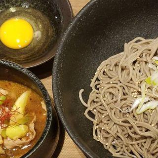 豚辛汁つけ蕎麦(肉蕎麦 トムラウシ)