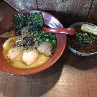 熊本ラーメン+ラー油ご飯(分田上 (わけたがみ))