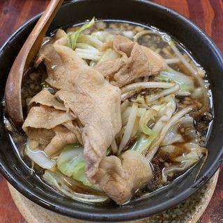 黒醤油ラーメン(傾奇御麺 庄内宝町店 (かぶきごめん))