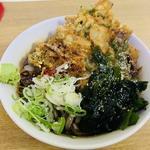太蕎麦(冷し、げそ、海苔ちくわ)(一由そば )