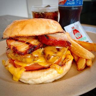 自家製ベーコンチーズバーガー(HELLO NEW DAY Hamburger)