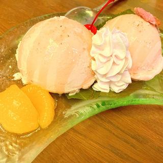 桜のアイス(珈琲西武)