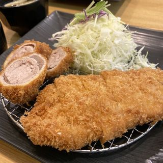 ヒレとロースの合い盛りとんかつ膳(KYK 阪急三番街店 (ケーワイケー))