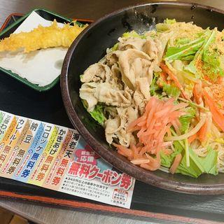 肉野菜そば 冷し(ゆで太郎 本所吾妻橋店  )