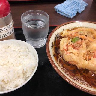 かきあげそば 半ライス(そばよし 京橋店)