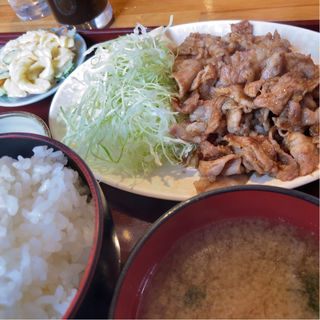 生姜焼き定食大盛り+マヨネーズ(とちぎや )