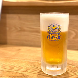 生ビール(おばんざいカエル)