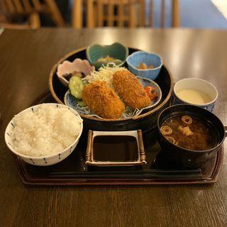 カニクリームコロッケ定食(こころ )