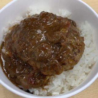 ブラウンソースハンバーグ丼弁当(松屋 西新宿8丁目店 (マツヤ))