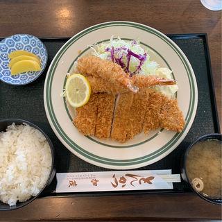 特製ランチ①エビフライとロースカツ(とんかつ加茂 )