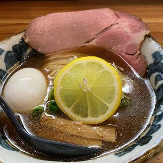 冷やし煮干しょうゆらーめん(極麺 青二犀 (ゴクメン アオニサイ))