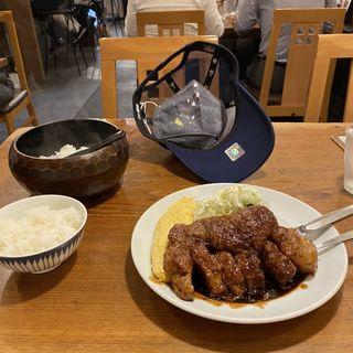 トンテキ定食(サル食堂 )