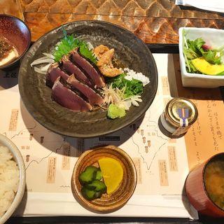 かつお定食(わらやき屋 赤坂)