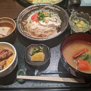 冷やし鯛そうめんと鰻ご飯御膳(日本料理 春)