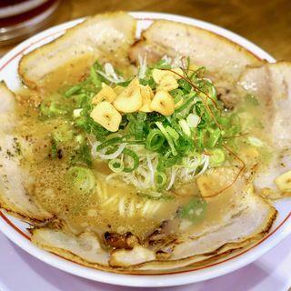 特製炙りチャーシューメン(並)(熟成麺屋 神来 阿倍野店)