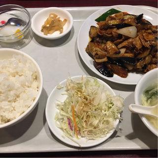 豚肉茄子味噌炒め定食(栄華飯店)