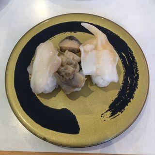 貝三種盛り つぶ貝・あかにし貝・石垣貝(はま寿司 小牧下末店 )