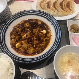 陳マーボー豆腐定食+京橋焼き餃子(京橋餃子バル福)