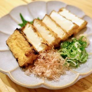 阿倍野 豆腐スギモト『眞ちゃん豆腐』の厚揚げ焼き(オオサカ堂)