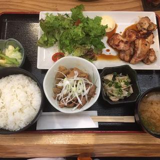 鶏もも炭火焼定食(鶏寛 仙台店)