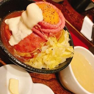 和牛ローストビーフ丼定食