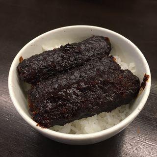 味噌串カツ丼(自作の組み合わせメニュー)