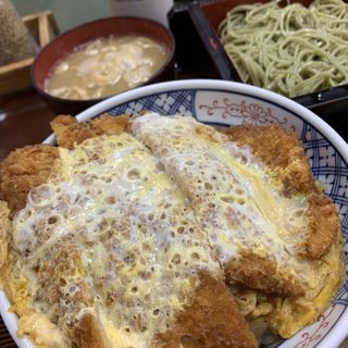 かつ丼セット(そば処 銀座 満留賀 )