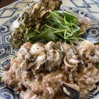 牡蠣のクリームリゾット