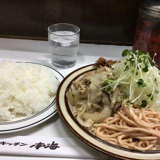 ひらめフライ しょうが焼き 定食(キッチン南海 神保町店)