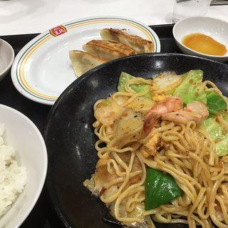 焼きそばセット(餃子の王将 浅草橋駅前店 (ギョウザノオウショウ))