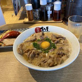 肉そばと焼豚焼飯(京橋真道)
