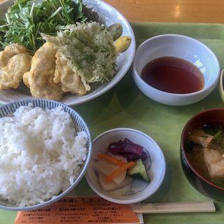 鶏天定食(源七商店)