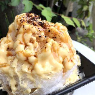 プリンかき氷(菓子・茶房 チェカ)