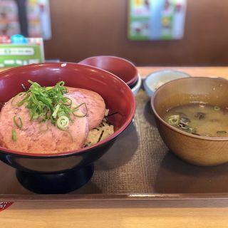 まぐろたたき丼特盛り(すき家 宇都宮インターパーク店  )