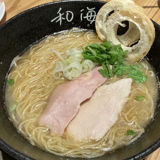 鯛塩らーめん(らーめん専門 和海 なんばラーメン一座店)