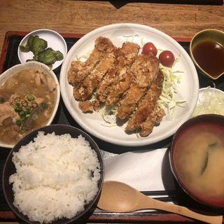 油淋鶏定食+煮込み(鳥一 外苑前店 (とりいち))