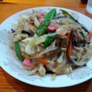 皿うどん(元祖赤のれん 節ちゃんラーメン 天神本店 )