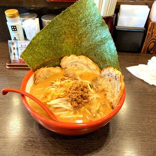 江戸前味噌(赤) 炙りチャーシュー麺(麺場 田所商店 本店)