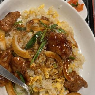 牛肉旨煮あんかけ飯(楽楽一番 京王永山店 (RAKURAKUICHIBAN))