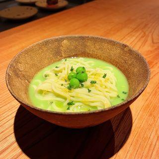 翡翠豆の和え麺(松濤 爛缶(ランプ))
