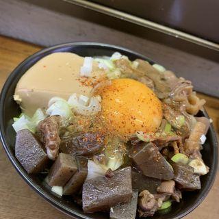 盛り合わせ+煮込み豆腐+生卵+ライス(げんき )