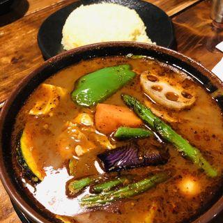 チキンカレー  スープ大盛り(ラマイ 札幌本店 (RAMAI))