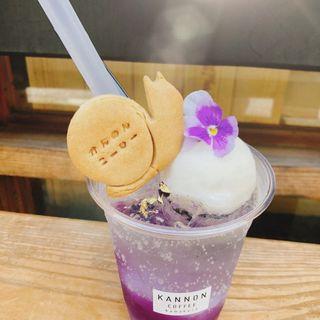 紫陽花ゼリーフロート